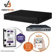 DVR UltraHD Visionbras XVR 4108 8 Canais 720P + HD 1TB WD Purple de CFTV