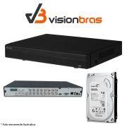 DVR UltraHD Visionbras XVR 4116 16 Canais 720P + HD 500gb Pipeline Pul de CFTV