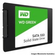 HD SSD WD Green, 120GB, SATA, Leitura 545MB/s, Gravação 430MB/s - WDS120G2G0A