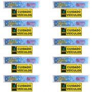 Kit 10 Sinaleira Audiovisual Para Sinalizar entrada e Saida de Veiculos
