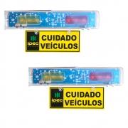 Kit 2 Sinaleira Audiovisual Para Sinalizar Entrada E Saida De Veiculos