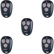 Kit 5 Controles Remoto FIT ECP Alarme e Portão Eletrônico 433 MHz