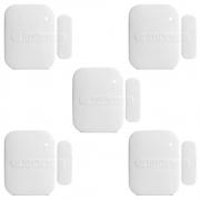 Kit 5 Sensores De Abertura Sem Fio Intelbras Xas 4010 Smart, Frequência 433,92 Mhz, Reed Switch Smd
