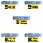Kit 5 Sinaleira Audiovisual Para Sinalizar entrada e Saida de Veiculos