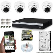 KIT CFTV 04 Câmeras INOVA 3220D 1080p DVR Intelbras Full HD 1080P 08 Canais + 1 TB