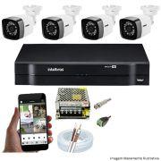 KIT CFTV 04 Câmeras TWG Starlight 720p DVR Intelbras MHDX 1104 4 Canais + Acessórios