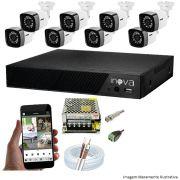 KIT CFTV 08 Câmeras TWG Starlight 720p DVR INOVA 8 Canais + Acessórios