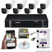 KIT CFTV 08 Câmeras TWG Starlight 720p DVR Intelbras MHDX 1108 08 Canais + Acessórios