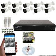 Kit Cftv 10 Câmeras Luxvision 720p Dvr 16 Canais Luxvision ECD 5 em 1 + ACESSORIOS
