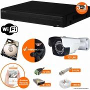 Kit Cftv 12 Câmeras AHD-M 608 2MP 720P 3,6MM Dvr 16 Canais Visionbras XVR 720p + HD 2 TB