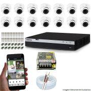 KIT CFTV 14 Câmeras INOVA 3220D 1080p DVR Intelbras Full HD 1080P 16 Canais + Acessórios
