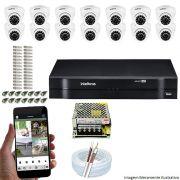 Kit Cftv 14 Câmeras VHD 3120D 720P 2,6mm DVR Intelbras MHDX 1116 + ACESSORIOS