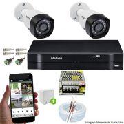 Kit Cftv 2 Câmeras 720p IR Bullet 3130 B Dvr 4 Canais Intelbras 5 em 1 + Acessórios