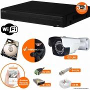 Kit Cftv 2 Câmeras AHD-M 608 2MP 720P 3,6MM Dvr 4 Canais Visionbras XVR 720p + HD 1 TB
