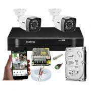 Kit CFTV 2 Câmeras Bullet TWG DVR Intelbras MHDX 1104 + HD 1TB