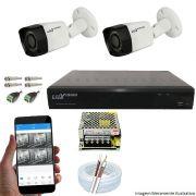 Kit Cftv 2 Câmeras Luxvision 720p Dvr 4 Canais Luxvision ECD 5 em 1 + Acessórios