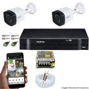 Kit Cftv 2 Câmeras Multhd Bullet 720P Dvr 4 Canais Intelbras Mhdx + Acessórios