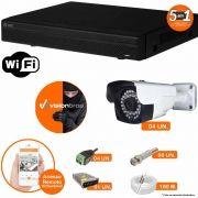 Kit Cftv 4 Câmeras AHD-M 720P 3,6MM Dvr 4 Canais Visionbras XVR 720p + ACESSORIOS