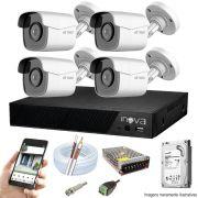 Kit Cftv 4 Câmeras AHD-M 720p Dvr 4 Canais Inova  5 em 1 HD + 1 TB