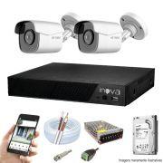 Kit Cftv 4 Câmeras AHD-M 720p Dvr 4 Canais Inova 5 em 1 HD + Acessórios