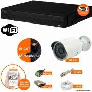 Kit Cftv 6 Câmeras IR CUT 3,6MM 1500L Dvr 8 Canais Visionbras XVR 720p + ACESSORIOS