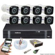 Kit CFTV 8 Câmeras Bullet TWG DVR Intelbras MHDX 1108 + Acessórios