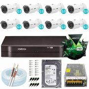Kit Cftv 8 Câmeras Intelbras Vhd 3130 B G3 Hd 720p 30 Metros