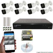 Kit Cftv 8 Câmeras Luxvision 720p Dvr 16 Canais Luxvision ECD 5 em 1 + ACESSORIOS