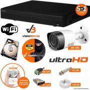 Kit Cftv 8 Câmeras Visionbras Bullet 1MP 720p 2,8MM Dvr 16 Canais Visionbras XVR 1080n + HD WD 2 TB