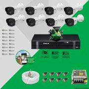 Kit Cftv 8 Câmeras VM 1120B Bullet G4 720p Dvr 8 Canais Intelbras MHDX + ACESSÓRIOS