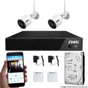 Kit CFTV Wifi 02 Câmeras TWG IP 2MP 01 DVR TWG 04 Canais 5M-N + HD 500GB