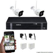 Kit CFTV Wifi 02 Câmeras Inova IP 1.3MP 01 DVR Intelbras Mhdx 04 canais 1004  + Acessórios