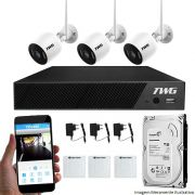 Kit CFTV Wifi 03 Câmeras TWG IP 2MP 01 DVR TWG 04 Canais 5M - N + HD 1TB