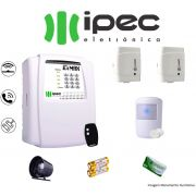 Kit De Alarme Al 4 Residencial Ipec Com 2 Sensores Magnéticos 1 Sensor Infravermelho Sem Fio