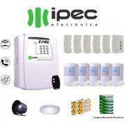 Kit De Alarme Residencial Ipec 6 Sensores Magnéticos 5 Sensores Infravermelho S/ Fio C/ Cabo