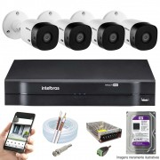 KIT INTELBRAS 4 CAM VHL 1220B FULL HD DVR MHDX 1104 HD 1 TB PURPLE