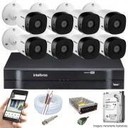 KIT INTELBRAS 8 CAM VHL 1220B FULL HD DVR MHDX 1108 + HD 500GB