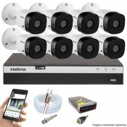 KIT INTELBRAS 8 CAM VHL 1220B FULL HD DVR MHDX 3108