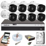 KIT INTELBRAS 8 CAM VHL 1220B FULL HD DVR MHDX 3108 + HD 500GB
