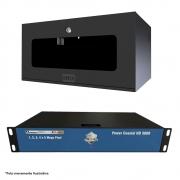 Kit Power Coaxial 04 Canais Hd 3000 Com Mini Rack 5U Acrílico Onix