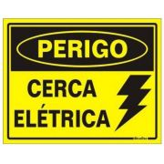 Placa Alumínio Cerca Elétrica - Aviso