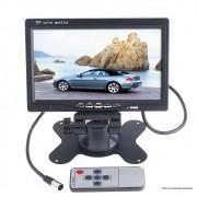 """Tela Monitor 7"""" LCD Colorido 2 entradas de Video + Fonte Estabilizadora 2A"""
