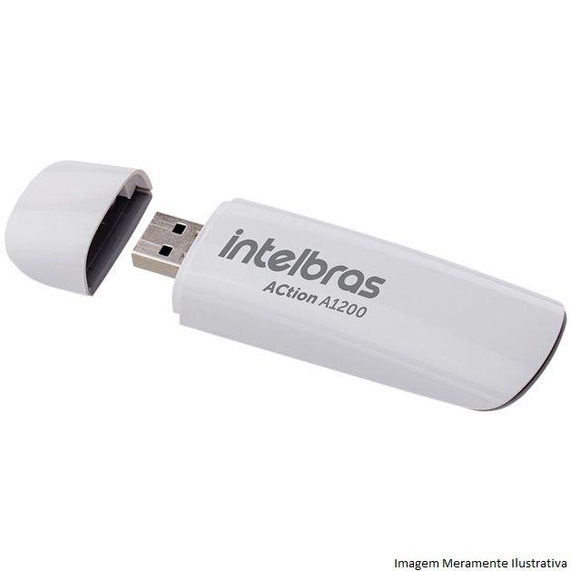 Adaptador Usb Wireless Dual Band Action A1200 - Intelbras