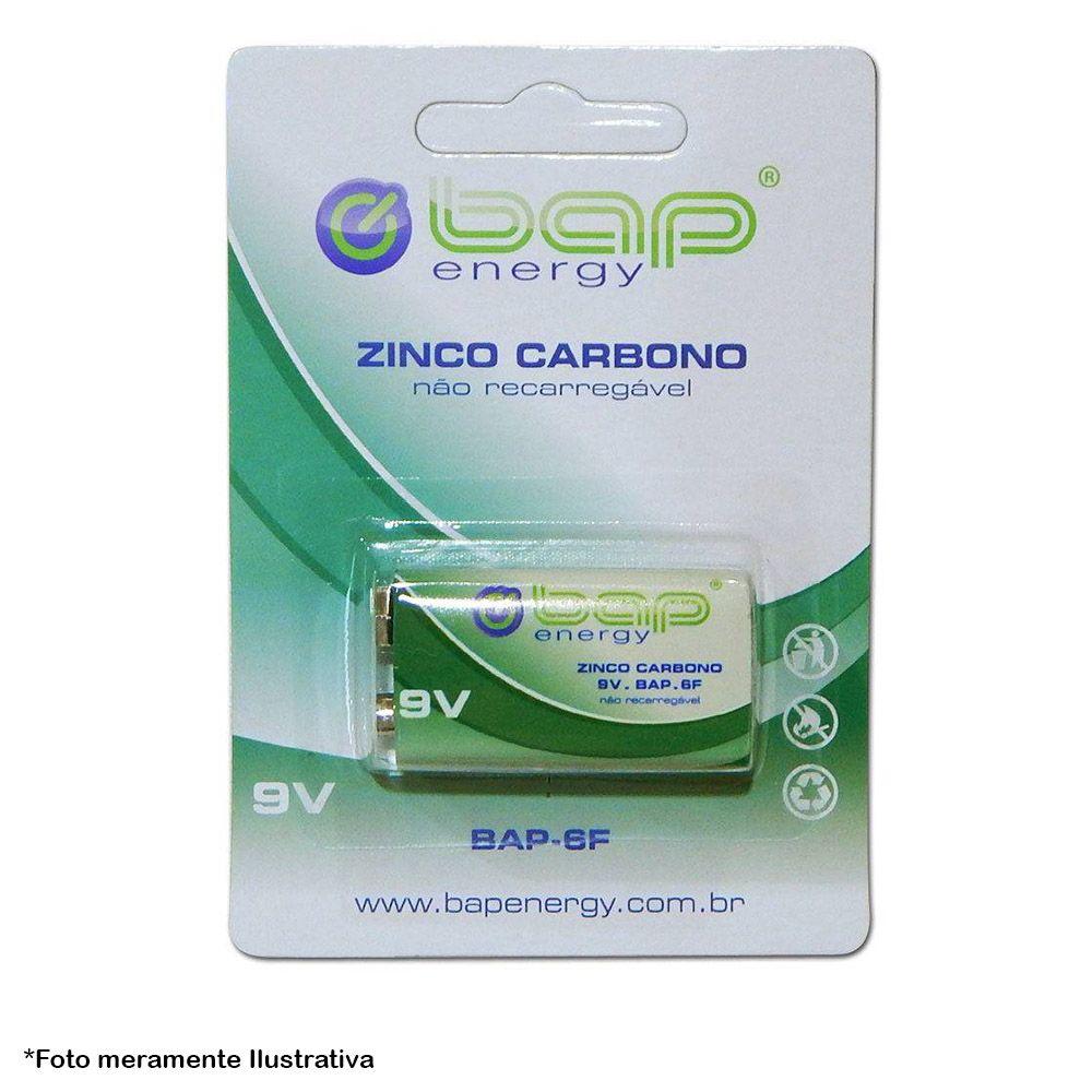 Bateria 9v BAP-6F de Zinco Carbono para Uso Geral