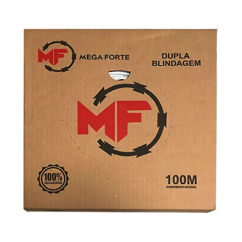 Cabo Coaxial Flexível RF4mm Dupla Blindagem + Bipolar 2x26 AWG, Aplicações em Câmeras (CFTV), Bobina 100m