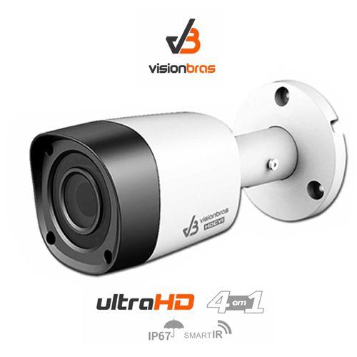 Câmera Bullet Infravermelho Ultra HD 4 em 1 Visionbras HFW1000RN 1Mp HD 720P 2,8MM