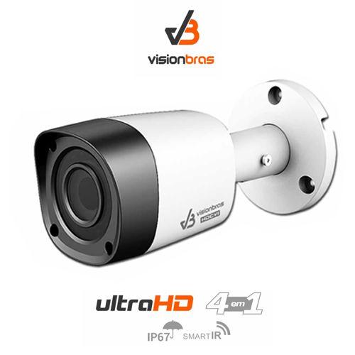 Câmera Bullet Infravermelho Ultra HD 4 em 1 Visionbras HFW1000RN 1Mp HD 720P 3,6MM