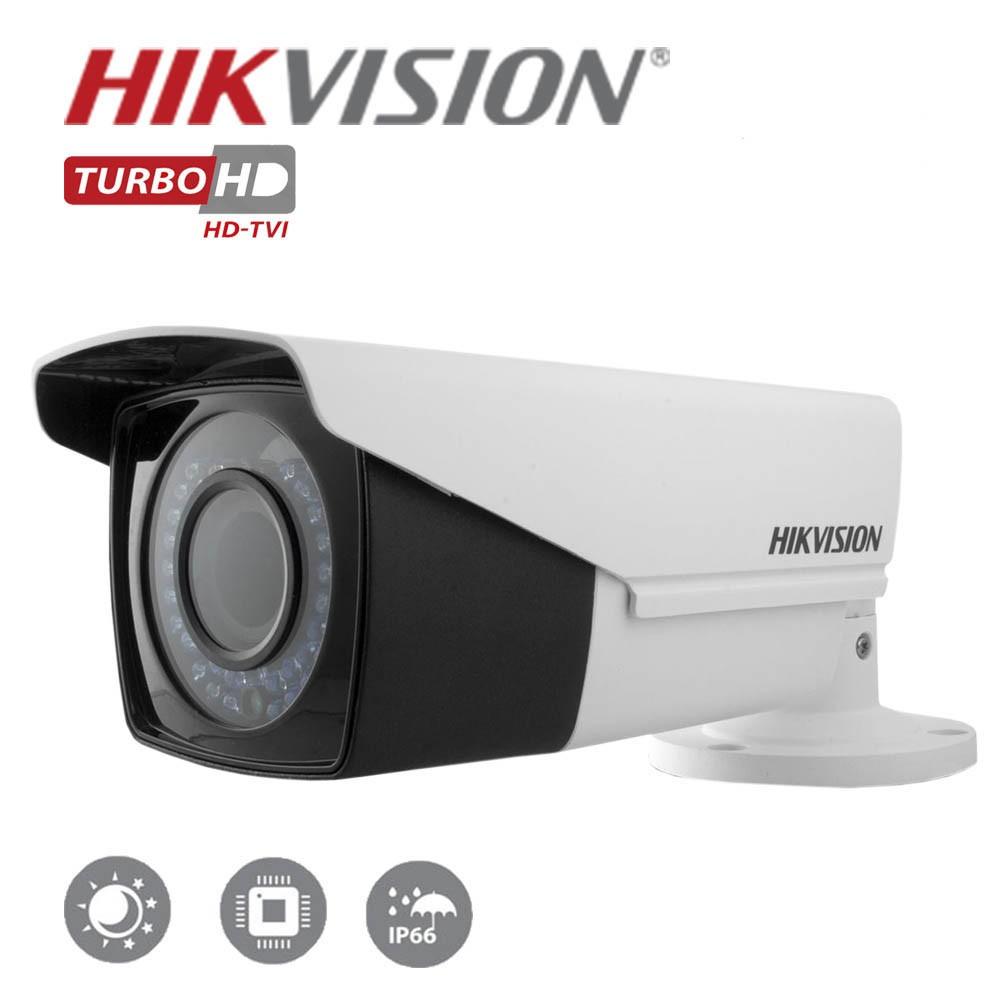Câmera Bullet Infravermelho Varifocal  Hikvision  Turbo HD  1.3MP 720p   2,8-12mm IP66 40 Metros