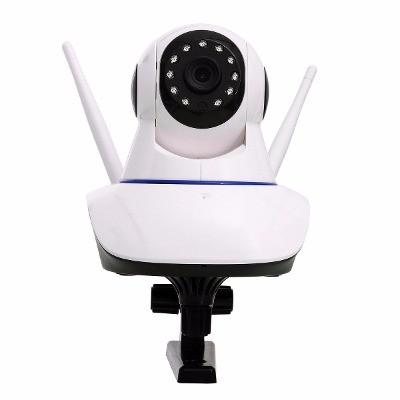 Câmera IP Sem Fio Wifi HD 720p Robo Grava em Cartão SD, com 2 Antenas e Visão Noturna