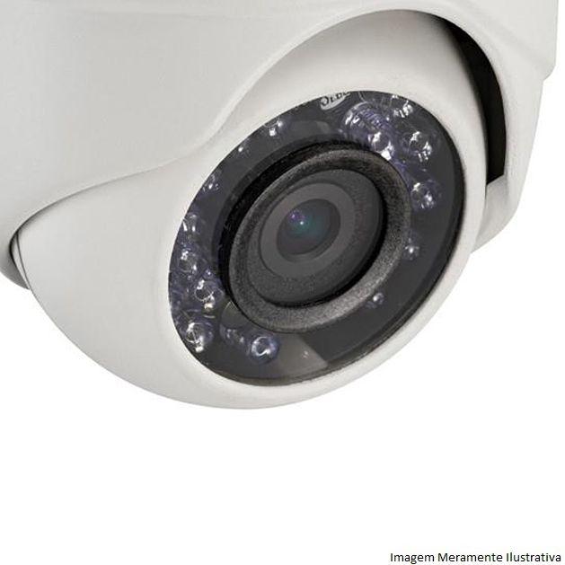 Câmera Dome Externa TurboHD Hikvision 2,8mm 720p 1MP Infravermelho HDTVI